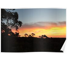 Mount Canobolas Sunset Poster