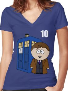 10th doctor Women's Fitted V-Neck T-Shirt