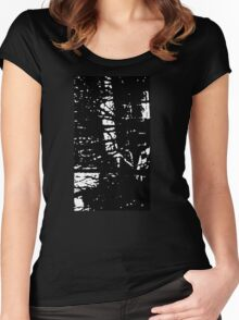 Ethereal Black Metal Women's Fitted Scoop T-Shirt