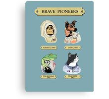 Brave Pioneers Canvas Print