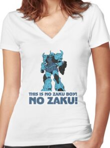 NO ZAKU! Women's Fitted V-Neck T-Shirt