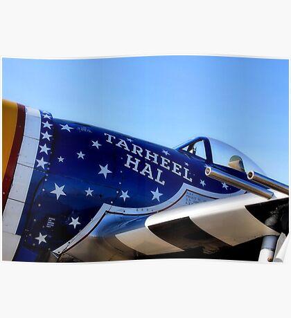Tar Heel Hal, P 47 Thunderbolt Poster