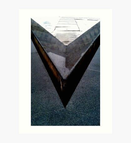 'V' from LouVre Art Print