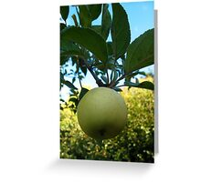 Green apple in France Greeting Card