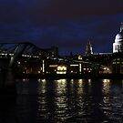 St.Paul's and the Millennium Bridge by rsangsterkelly