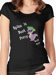 Spike is Best Pony Women's Fitted Scoop T-Shirt