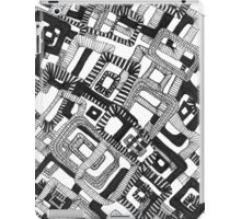 Retro black and white rectangle pattern iPad Case/Skin