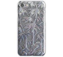 silver bamboo iPhone Case/Skin