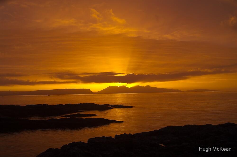 Sunset, Rum, Inner Hebrides, Scotland by Hugh McKean