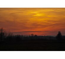 A Bright Sunset.. Photographic Print
