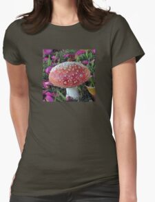 Fairy Toadstool Womens Fitted T-Shirt
