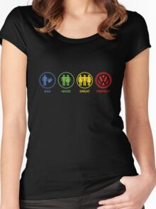 VW Bad, Good, Great, Perfect Women's Fitted Scoop T-Shirt