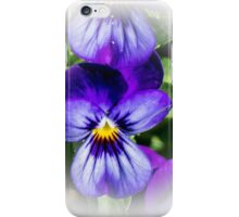 Purple cushion cover with vignette iPhone Case/Skin