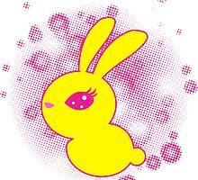 Yellow rabbit by -ashetana-