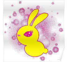 Yellow rabbit Poster