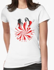 Candy Cane Children Womens Fitted T-Shirt