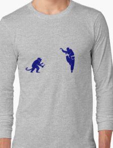 Monkey Kung Fu with Knife Long Sleeve T-Shirt