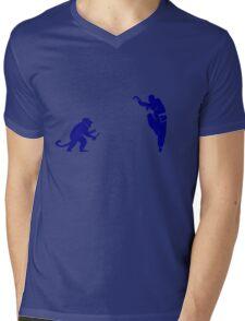 Monkey Kung Fu with Knife Mens V-Neck T-Shirt