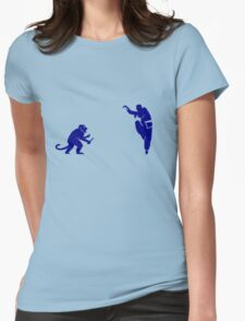 Monkey Kung Fu with Knife Womens Fitted T-Shirt