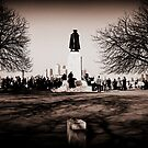 Greenwich Park - James Wolfe Statue by rsangsterkelly