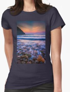 Rocks in sea Womens Fitted T-Shirt