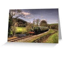 Pannier Tank on the Dart Valley Greeting Card