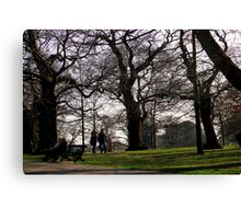 Old Couple, Young Couple, trees  Canvas Print