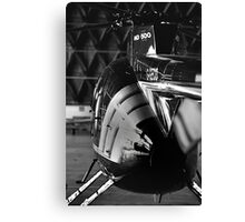 MD500 Helicopter in Hangar Canvas Print