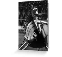 MD500 Helicopter in Hangar Greeting Card