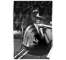 MD500 Helicopter in Hangar Poster