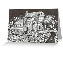 OLD NEW ENGLAND MILL HOUSE Greeting Card