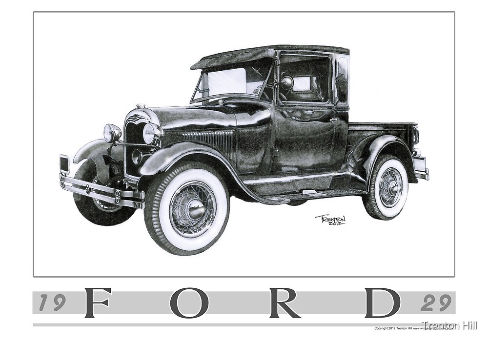 1929 Model A Pickup by Trenton Hill