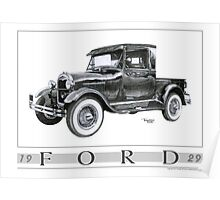 1929 Model A Pickup Poster