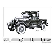 1929 Model A Pickup Photographic Print