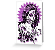Day of the Dead Girl bust 2 Greeting Card