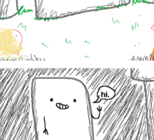 Hello, Stonehenge! Sticker