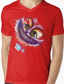 Cheshire Cat Mens V-Neck T-Shirt