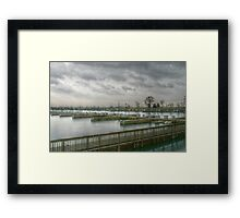 An Empty Harbor Framed Print
