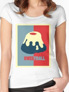 Believe In The Sweetroll Women's Fitted Scoop T-Shirt