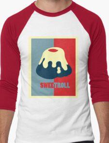 Believe In The Sweetroll Men's Baseball ¾ T-Shirt