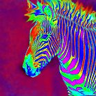 neon zebra iphone by jashumbert