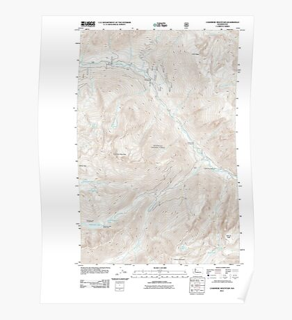 USGS Topo Map Washington State WA Cashmere Mountain 20110601 TM Poster