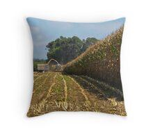 harvesting maize Throw Pillow