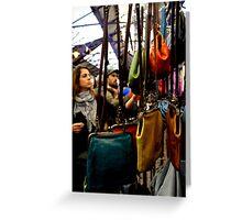 Greenwich Market - Handbags Greeting Card