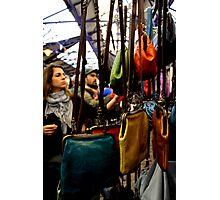 Greenwich Market - Handbags Photographic Print