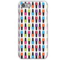 Nail polish pattern iPhone Case/Skin
