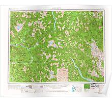 USGS Topo Map Washington State WA Concrete 240636 1955 250000 Poster