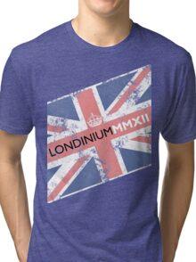 London 2012 - Londinium MMXII Union Jack  Tri-blend T-Shirt