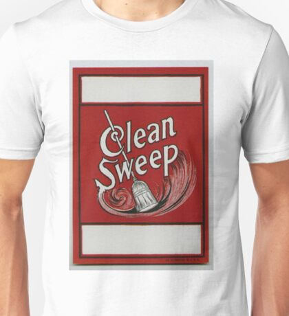 Clean Sweep Broom Label Unisex T-Shirt