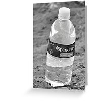 Water bottle in black & white Greeting Card